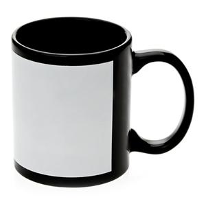 Black Mug 11oz White Patch Orca